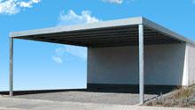 Carporte og garage